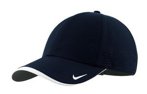 5a19ad336db Nike Golf Dri-FIT Swoosh Perforated Cap. 429467. Nike Navy  Nike Navy ...