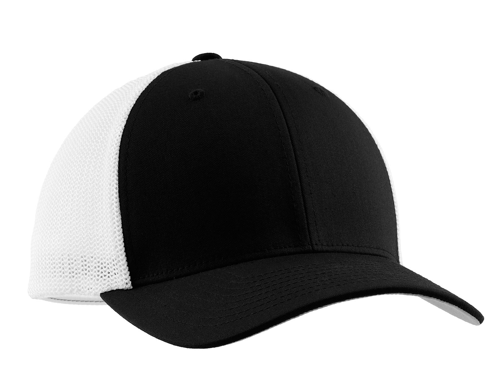 739585a7726 Port Authority Flexfit Mesh Back Cap. C812. Port Authority Black White   Port ...