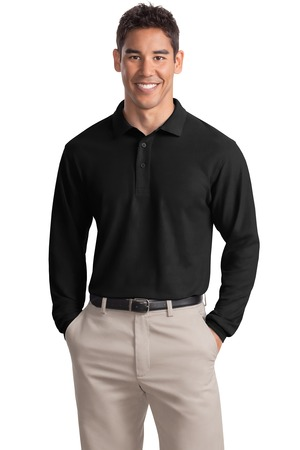 Port Authority Men 39 S Tall Silk Touch Long Sleeve Polo