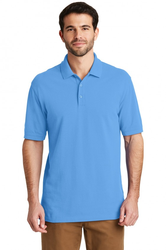 fc6c30a0bb1 Port Authority Mens Cotton Logo Polo. K8000. Logo Shirts Direct