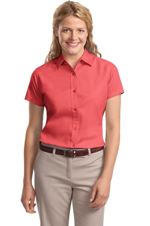 8e1d4c28 Port Authority Women's Short Sleeve Easy Care Shirt. L508.
