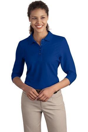 3fb9d287d Port Authority Women s Silk Touch 3 4-Sleeve Polo. L562.