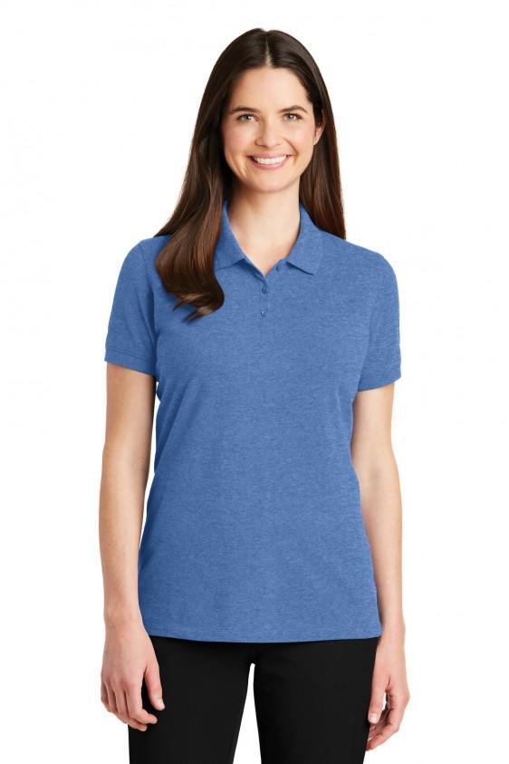 e72e66aa2ce Port Auth. Womens Cotton Logo Polo. LK8000. Logo Shirts Direct