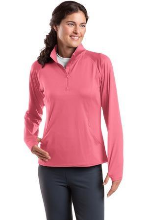 Sport Tek Ladies Sport Wick Stretch 1 2 Zip Pullover Lst850 Logo Shirts Direct This women's sweatshirt, which is idea for yoga, running or. sport tek ladies sport wick stretch 1 2 zip pullover lst850