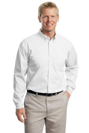 Port authority long sleeve easy care shirt s608 for Employee shirts embroidered logo