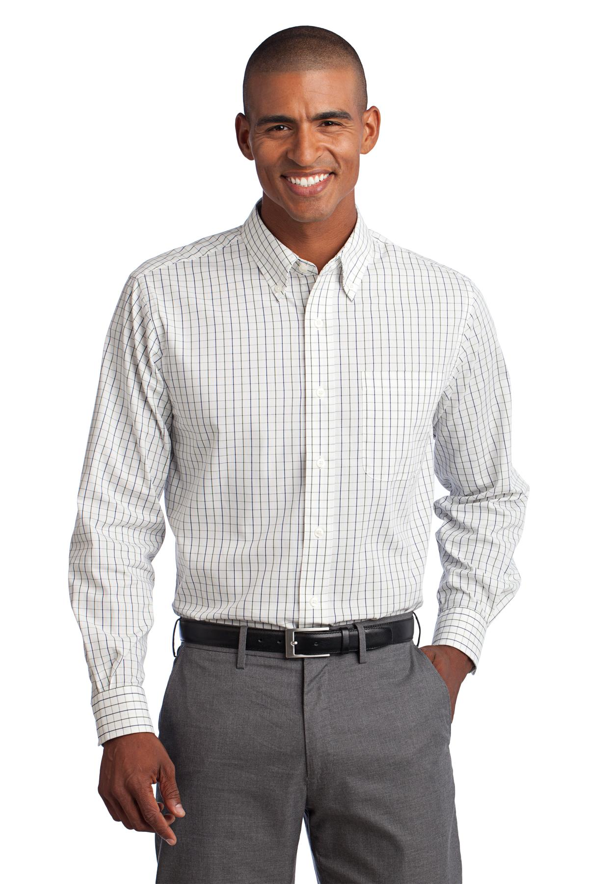 Port Authority Mens Tattersall Easy Care Shirt S642