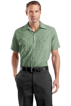 Red kap men 39 s tall short sleeve industrial work shirt for Tall mens work shirts