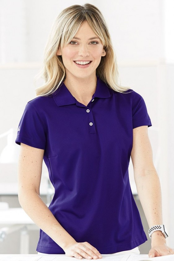 Doblez Glosario Cardenal  Adidas A131 - Women's Climalite Golf Polo Shirt   Logo Shirts Direct
