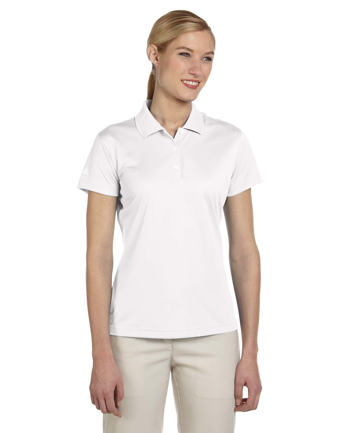 adidas golf women's climalite basic polo a131
