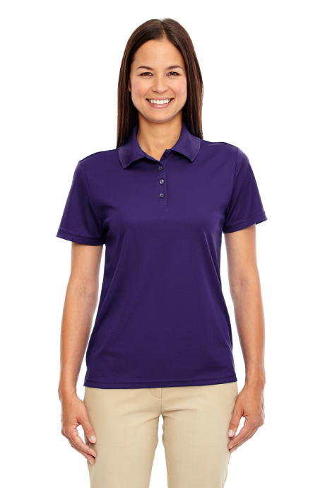 Core365 women 39 s origin performance pique polo 78181 for Purple polo uniform shirts