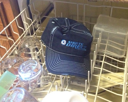 Clean your hat in the dishwasher