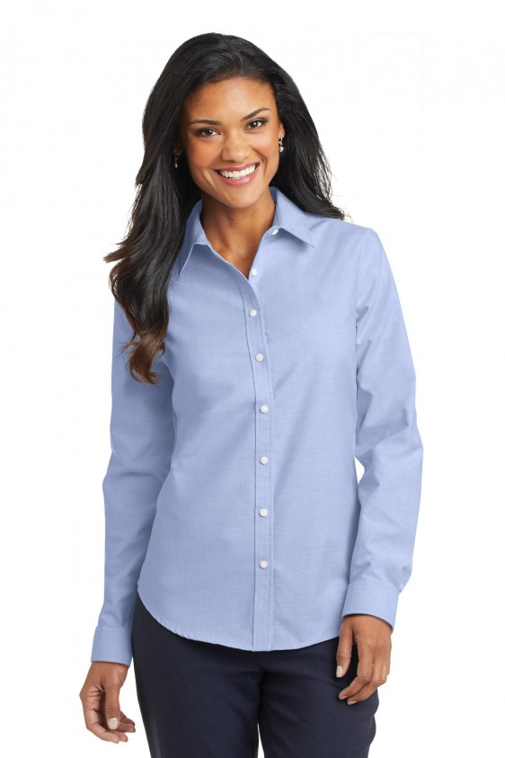 unparalleled new season new images of Port Authority Women's SuperPro Oxford Shirt. L658.
