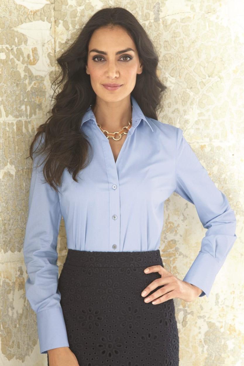 004b190baab Calvin Klein Women's Stretch Solid Dress Shirt. 13CK018. Calvin Klein  Stream Blue; Calvin ...