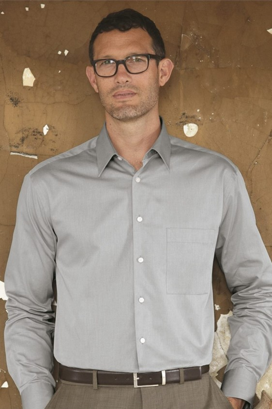 Calvin Klein Custom Logo Dress Shirt Men S Herringbone 13ck027
