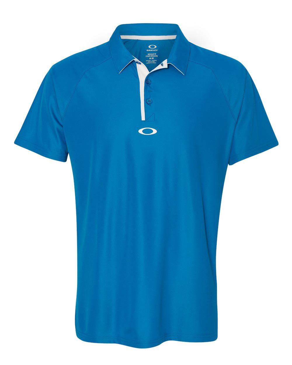 Oakley custom polo men 39 s elemental 432632 logo shirts direct for Name brand golf shirts direct