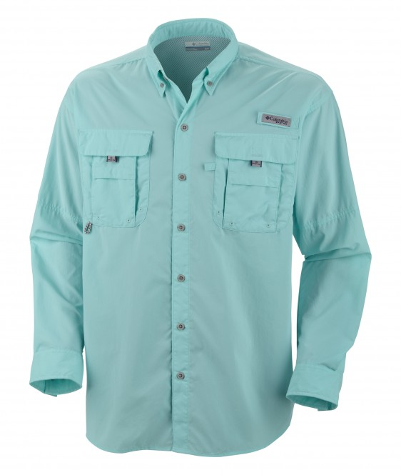 Columbia men 39 s bahama ii long sleeve shirt 7048 for Embroidered columbia fishing shirts