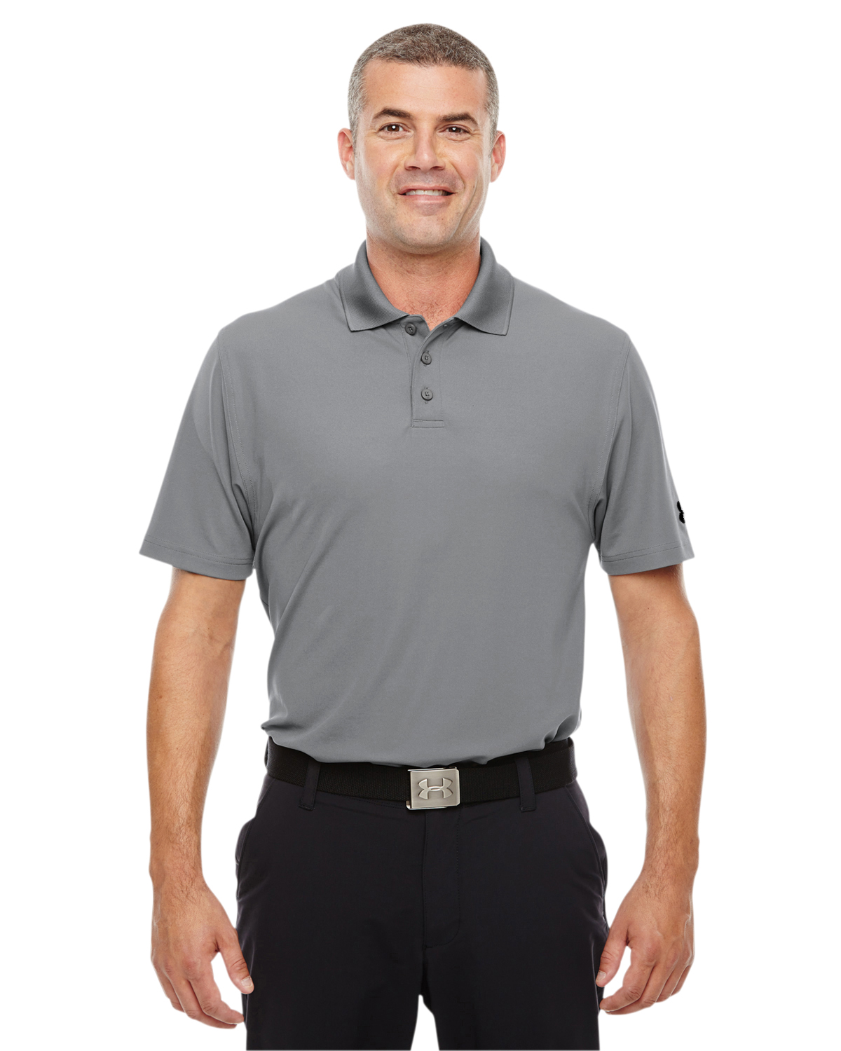 798c90615 Under Armour Men's Performance Polo. 1261172. Under Armour True Gray  Heather; Under ...