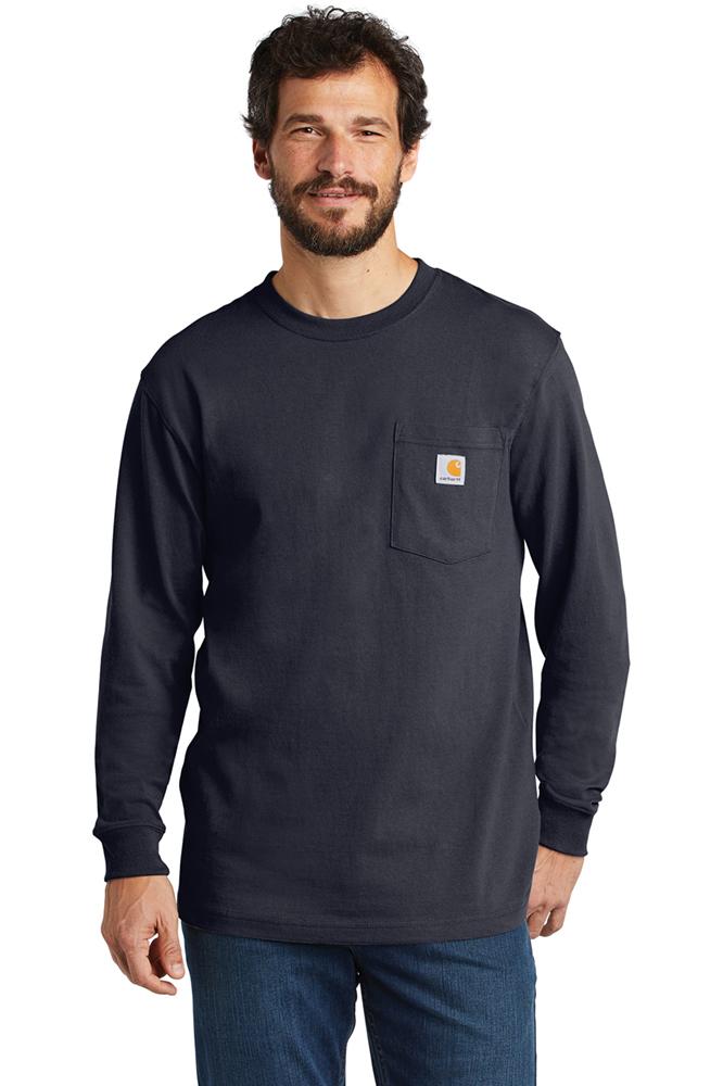 1086d8922a Carhartt® Men s Workwear Long Sleeve Pocket T-Shirt. CTK126. Carhartt Navy   Carhartt Navy ...