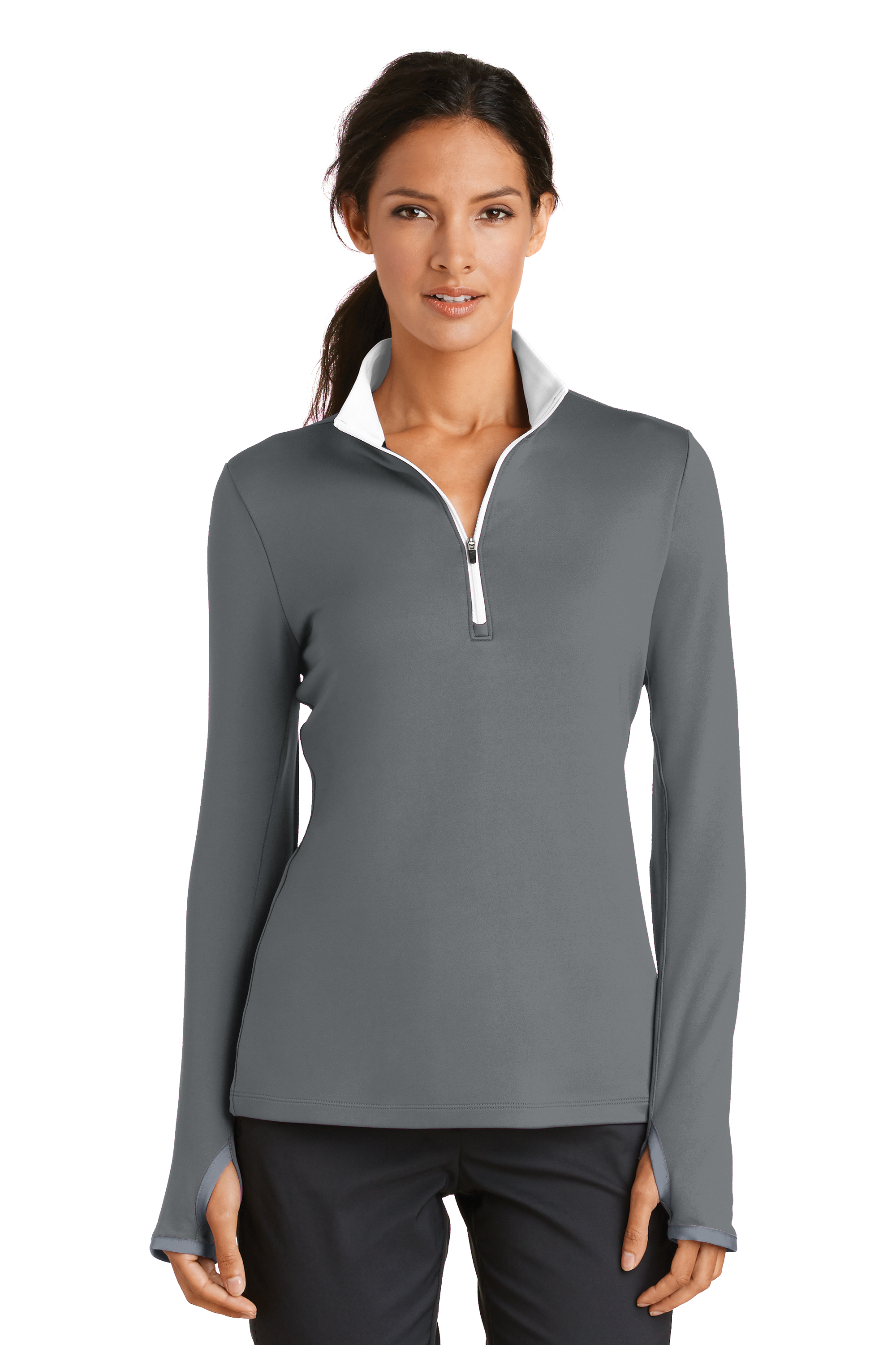 Nike golf women 39 s dri fit stretch half zip pullover 779796 for Women s dri fit golf shirts