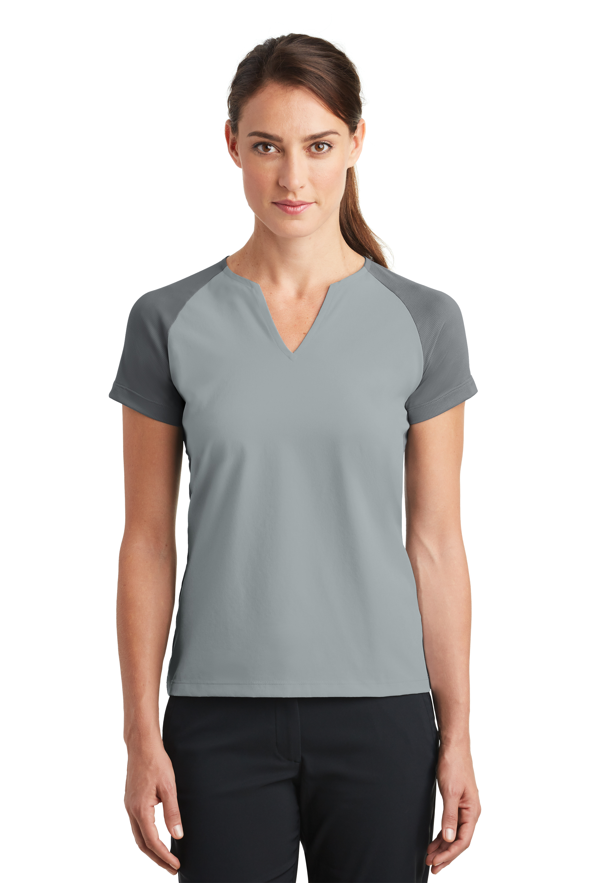 64cf53f7 Nike Golf Women's Dri-FIT Stretch Woven V-Neck Top. 838960.