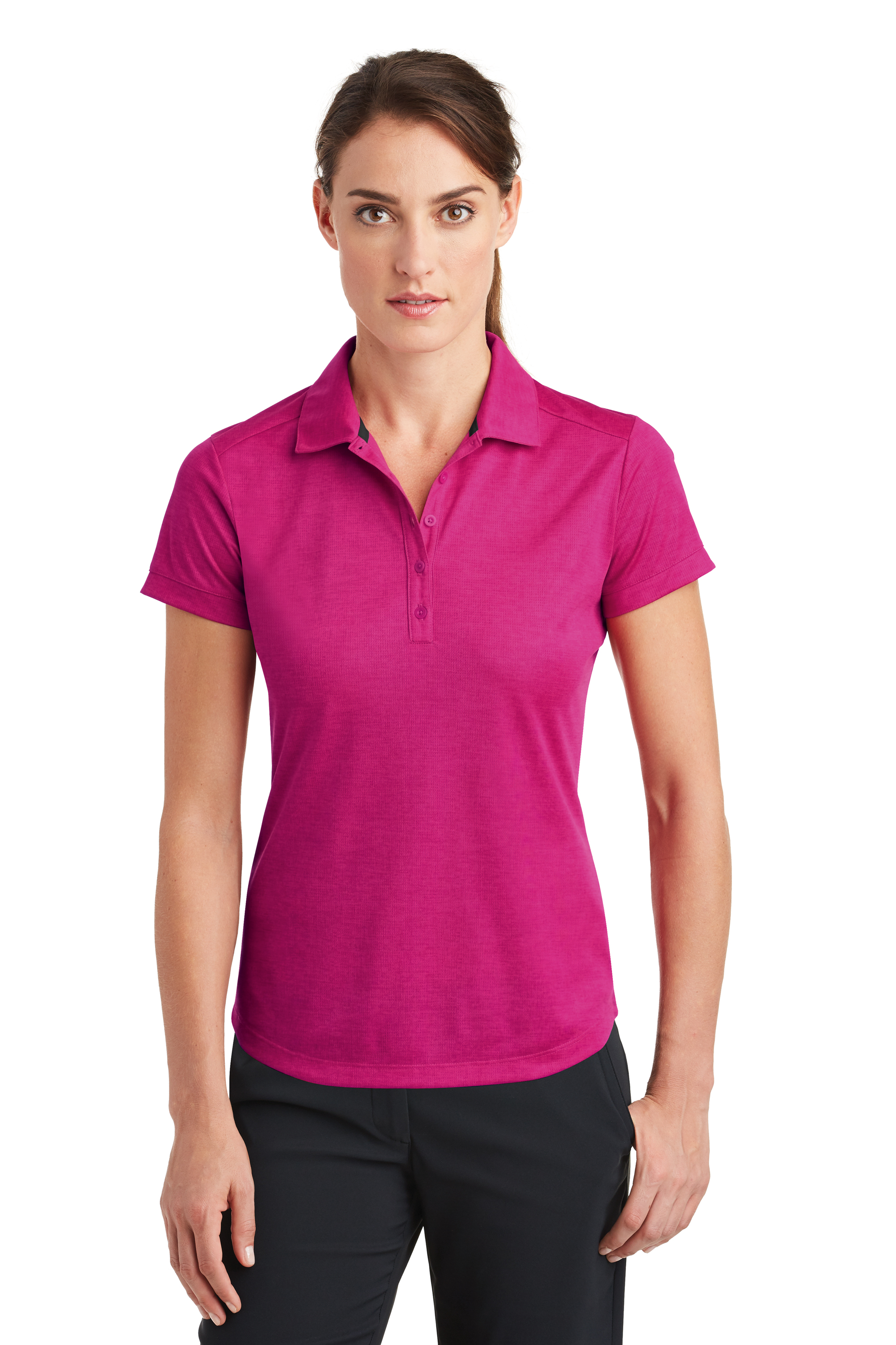 f2ce9627385c1 Nike Golf Women's Dri-FIT Crosshatch Polo. 838961. Nike Fusion  Pink/Fireberry; Nike ...