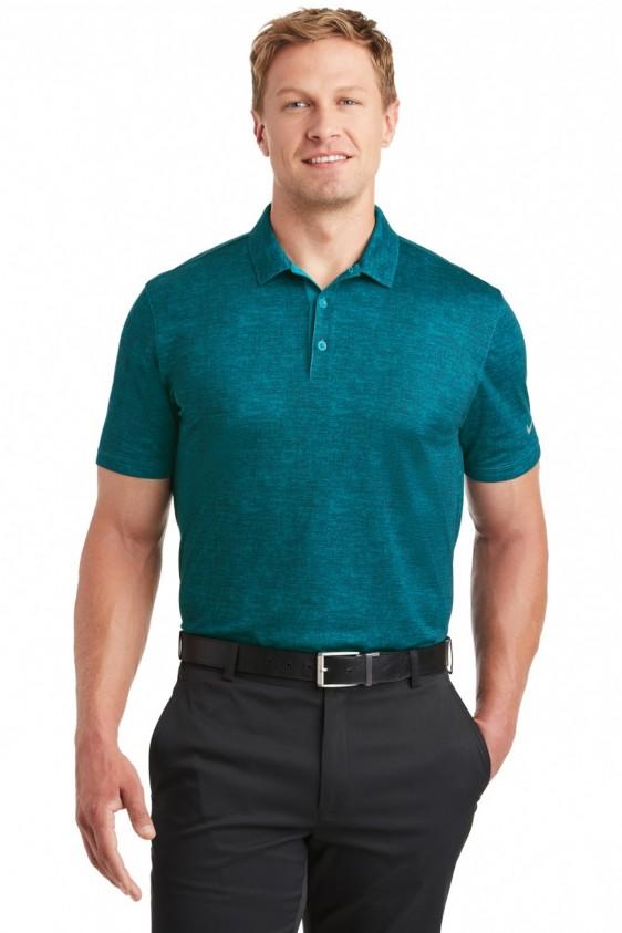 Nike 838965 Dri Fit Crosshatch Polo Shirt Logo Shirts Direct