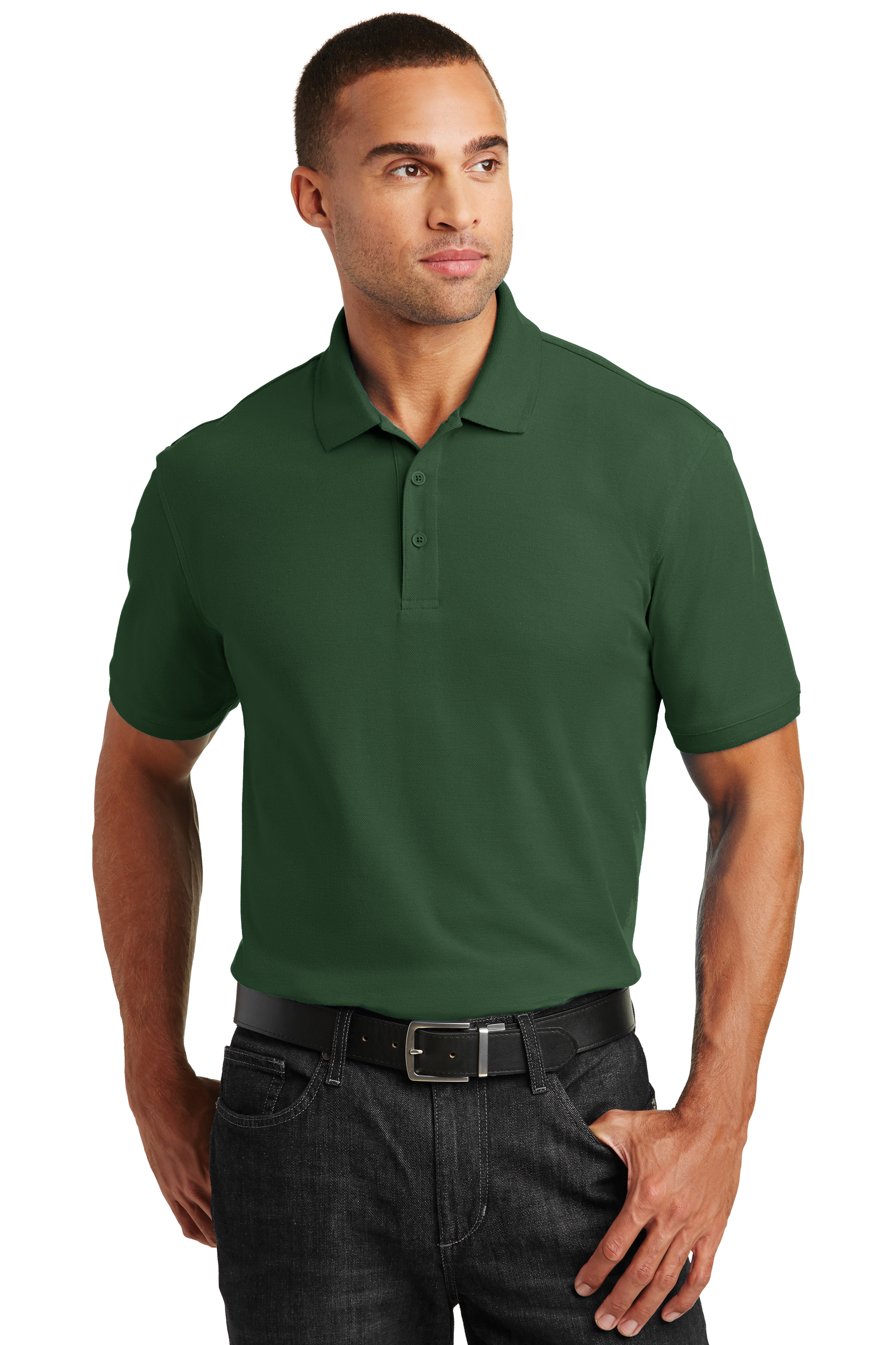 aef6bad691bb ... Men s Core Classic Pique Polo. K100. Sale! Port Authority Graphite   Port Authority Graphite  Port Authority Graphite ...
