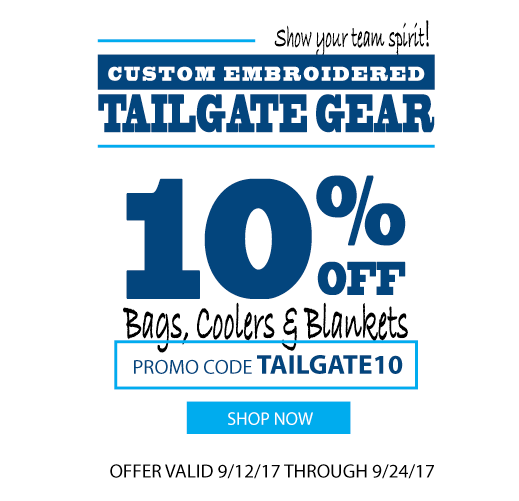 score 10% off bags, coolers and blankets with code TAILGATE10