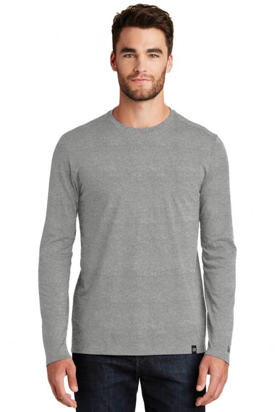 New era long sleeve custom logo shirt crew tee nea102 for Long sleeve custom t shirts